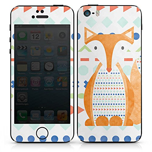 Apple iPhone SE Case Skin Sticker aus Vinyl-Folie Aufkleber Fuchs Tier Muster DesignSkins® glänzend
