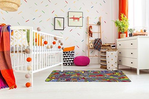 misento Kinderteppich Straßenteppich Spielunterlage  Kinderzimmer Schadstoff geprüft 95 x 200 cm