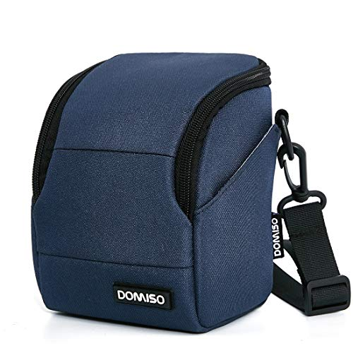 DOMISO Camera Case Kameraetui Schultertasche für Systemkamera Canon EOS M6 M5 M3 M10 PowerShot SX540 HS SX430 is/Sony A6500 A6300 A6000 A5100 / Nikon 1 J5 COOLPIX B700 B500 / Olympus E-PL 8,Marine