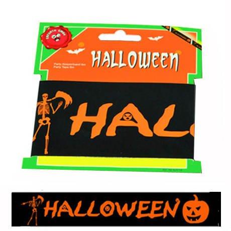 n, schwarz-orange, 6m (Absperrband Kostüme Halloween)