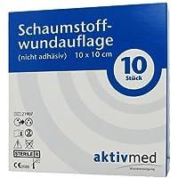 AKTIVMED Schaumstoffwundaufl.10x10 cm nicht adhäs. 10 St Verband preisvergleich bei billige-tabletten.eu