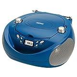 Daewoo DBU-37BL - Radio CD (USB, FM, CD-RW, AC), color azul