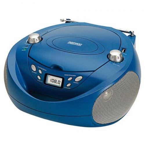 Daewoo DBU-37BL - Radio CD (USB, FM, CD-RW, AC), blue color