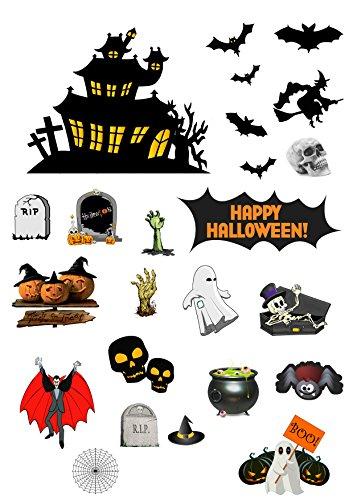TOP Marques Collectibles Halloween Stand Up Szene aus Essbar Wafer Papier-Perfekt für Dekorieren Ihre Dekorationen einfach zu verwenden (Topper Halloween Kuchen Essbare)