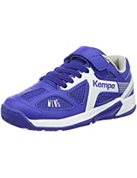 Kempa Fly High Wing Zapatillas, Unisex niños, Azul royal / Blanco, 34