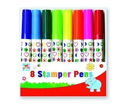Anker-Kids-Create-Arts-and-Crafts-Stamper-Pens-Plastic-Assorted-Colour-Pack-of-8