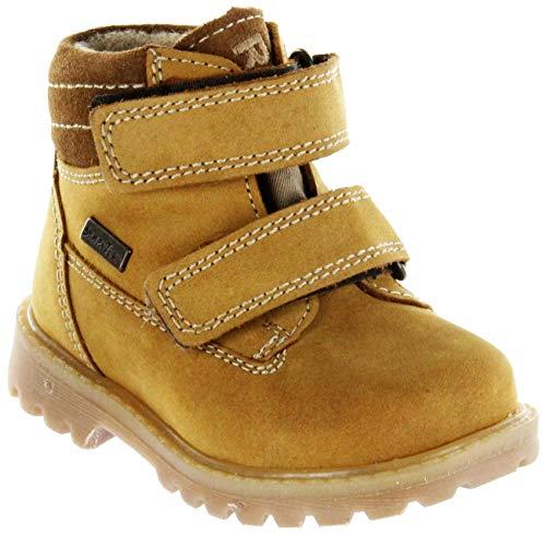 Richter Kinder Lauflerner-Stiefel Sympatex Beige Nubukleder Jungen-Schuhe 1232-441-5111 Mustard Pragon, Größe:29, Farbe:Beige