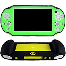 Pandaren® Cubierta de silicona cover mano agarre funda protectora (verde) para PS Vita slim PSV 2000