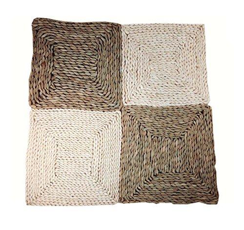 hen quadratischen Rattan Tischsets Stroh Isolierung Pad, natürliche Farbe, 30CM (Gebacken Pas)