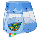 TecTake Children's Playhouse Pop Up Playhouse Plant gyda Playhouse 100 Balls + Bag (Glas)