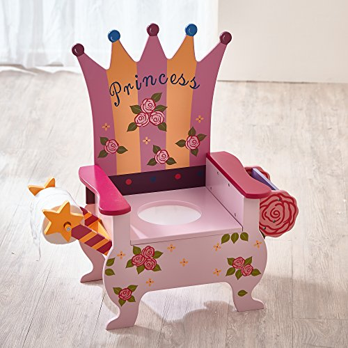 Teamson Kids - Princess Potty Chair with Book Holder and Toilet Paper Holder