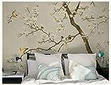 WH-PORP Benutzerdefinierte 3D-Tapete Chinesische Art Mural Blume Bäume Vögel American 3D Wall Fototapeten Tapete Hintergrund Große Wandbild 3D Wall-128Cmx100Cm