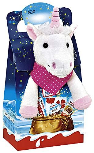 Kinder Pasqua Peluche 23cm Cavallo con Kinder Maxi, Bueno eccetera 133g