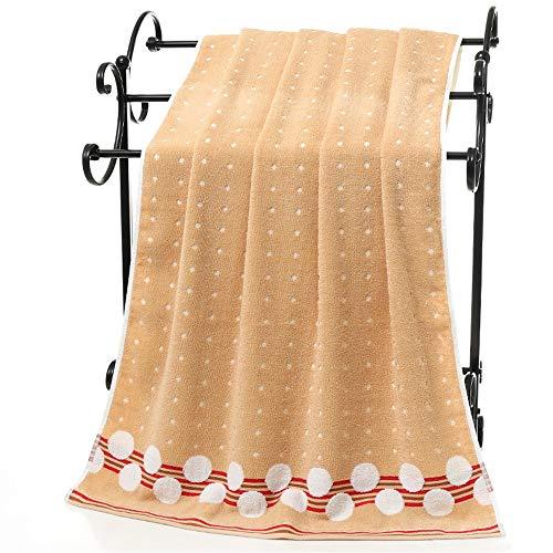 1 toalla de baño con diseño de lunares y borde grueso, absorbente, de lino, para la playa, deporte, de algodón