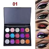 TAOtTAO Schimmer Glitter Lidschatten Pulver Palette Matte Lidschatten Kosmetik Make-Up (A)