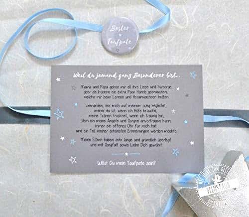 Taufpate Fragen Karte Mit Button Willst Du Patenonkel Sein Kleines Geschenk Taufe Pate