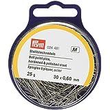 Prym 0,60 x 30 mm 25 G recto pines de punta de bola, plateado
