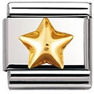 Nomination Classic – Gewölbter Stern Silber-Gold