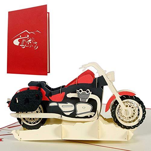 Carte d'anniversaire moto - Carte de vœux ou bon pour permis moto - T17