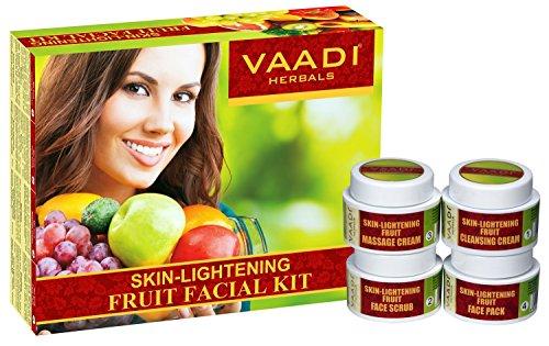 Vaadi Herbals Facial Kit - hautaufhellenden Fruit Facial Kit - All Natural - Geeignet für alle Hauttypen und für Männer und Frauen - 70 Gramm - -