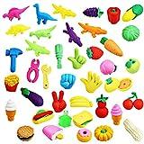 Grapes Garden Nouveauté Style Crayon Gomme en Caoutchouc Papeterie Lot De Gommes à Effacer Pour Enfants Ecoles Elèves Papeterie École Jouet Créative(H2-40PCS)