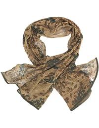 Mil-Tec Net Scarf, made of poly-cotton-blend fabric, 190 x 90cm - BW tropical camo