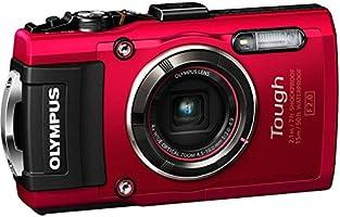 Olympus TG-4 Digitalkamera (16 Megapixel, 4-fach opt. Zoom, CMOS-Sensor, GPS, wasserdicht bis 15 m, kälteresistent, Staub/Stoß und bruchgeschützt, Full HD Video, Live Composite Modus) rot