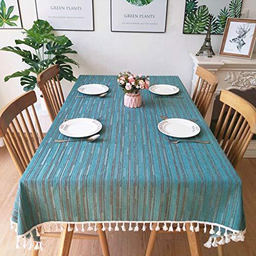 LSJT Chenille europäischen Stil Tischdecke Tischdecke mediterrane blau High-End Tischdecke...