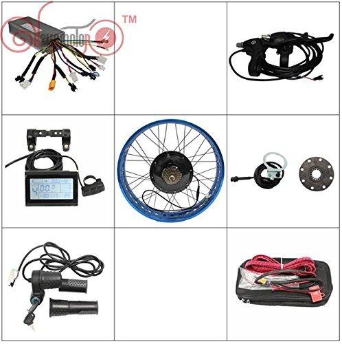 HYLH 36v750w 48v1000w Fat Tire Elektro-Fahrrad-Hinterrad-Umrüstkit für Sinus-Controller Controller Felgen-Kit Farbe: SCHWARZ, GOLDEN, BLAU, ROT