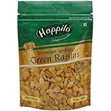 HappiloPremium Seedless Green Raisins, 250g
