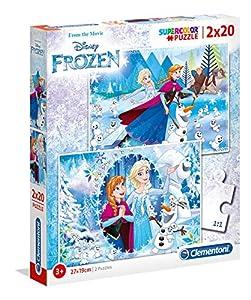 Clementoni spa - Pack Puzzles 2x20 Piezas Frozen, el Reino de Hielo clementoni