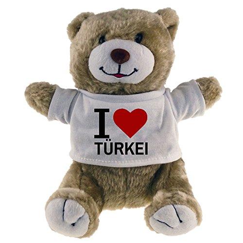 Preisvergleich Produktbild Kuscheltier Bär Classic I Love Türkei beige