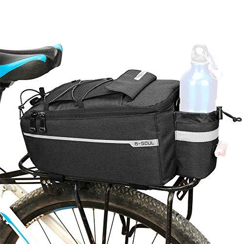 Lixada Docooler Fahrrad Gepäckträgertasche, Fahrrad Sitz Multifunktionale Isolierte Stammkühltasche,Umhängetasche, 29 * 16 * 17cm