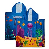 GreenOwl Asciugamano per bambini Poncho, 100% cotone, ultra morbido per il bagno in spiaggia o piscina per bambini, bambine e ragazzi
