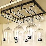 Tosbess Gläserhalter Wandhängeregal für Gläser Weingläser Rack, Halterung für Stielgläser 3 Reihen Stemware Halter