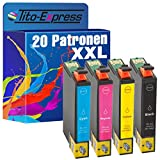 PlatinumSerie® 20 Patronen XL kompatibel zu Epson T1291 T1292 T1293 T1294 T1295 für Epson Stylus Office Workforce-Serie