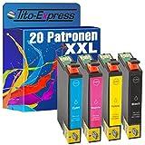 PlatinumSerie® 20x Premium Drucker-Patrone XXL TE0711-TE0714 mit Chip und Füllstandsanzeige kompatibel für Epson Stylus DX-4000 DX-4050 DX-4400 DX-4450 DX-5000 DX-5050 DX-5500 DX-6000 DX-6050 DX-7000F DX-7400 DX-7450 DX-8400 DX-8450 DX-9200 DX-9400F