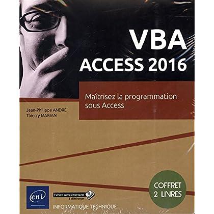 VBA Access 2016 - Coffret de 2 livres : Maîtrisez la programmation sous Access