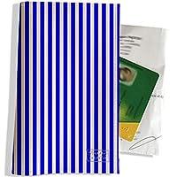 Porte ordonnance et carte vitale Motif Lignes verticales bleues réf. 2383