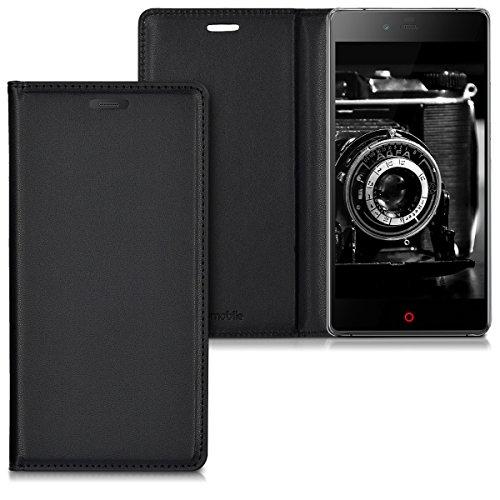 kwmobile Hülle Flip Case für ZTE Nubia Z9 Max - Aufklappbare Schutzhülle aus Kunstleder Tasche im Flip Cover Style in Schwarz