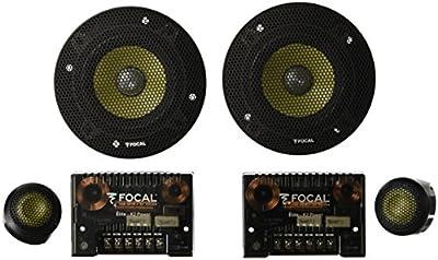 """Focal ES 100 K 10cm 4"""" 100mm 2 Way Slim Component Car Speakers Kit 50w RMS Pair"""