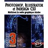 Photoshop, Illustrator et InDesign CS3 - Coffret de 3 livres : Maîtrisez la suite graphique Adobe