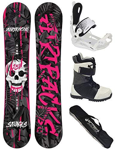 Airtracks Damen Snowboard Set/Savage Lady Rocker 144 + Snowboard Bindung Master W + Snowboardboots Star W 37 + Sb Bag -