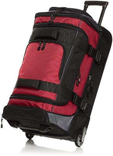 AmazonBasics - Mochila con ruedas de ripstop, 66 cm - Rojo