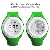 Pingonaut Kidswatch – Kinder GPS Telefon-Uhr, SOS Smartwatch mit Ortung, Tracker & Phone - Tracking App, Deutsche Software, Grün