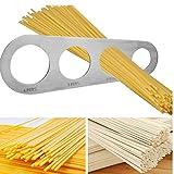 TOSSPER 1Pcs in Acciaio Inox Pasta Noodle Misura 4 Fori Spaghetti Misuratore Accessori Cucina