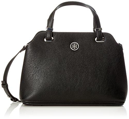 Tommy Hilfiger Damen Th Core Satchel Henkeltasche, Schwarz (Black), 20x13x30 cm (Hilfiger Handtasche Tommy)