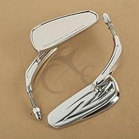 TengChang Motorrad Neue Chrome Teardrop Rückspiegel Für most 8mm threaded Harley Davidson
