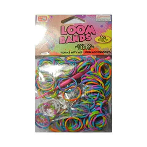 3000 Candy Stripe Loom Bands - Assorted
