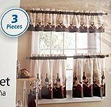 Mainstays Vineyard 3-Piece Kitchen Curtain Set by Franco Manufacturing